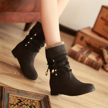 Plus Velvet Martin Boots Cross Strap Short Boots British Style Leisure Round Head Flat Bottom Women' Autumn and Winter Shoes