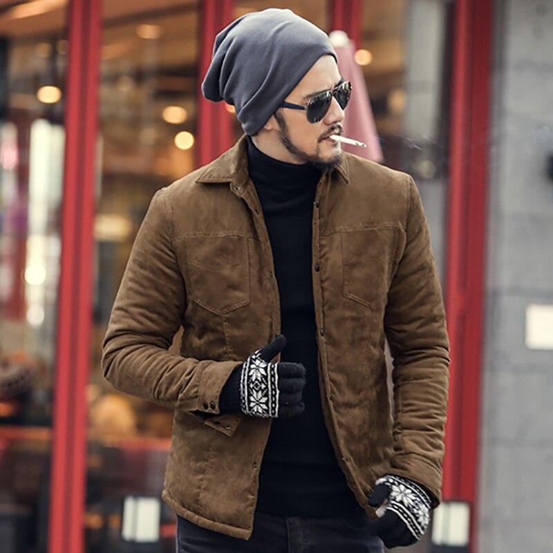 2017 Marca de Moda Dos Homens Novos de Outono Slim Fit Longo casaco de Manga homens de Algodão Xadrez Casuais outwear quente casaco de estilo Europeu de alta qualidade