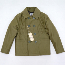BOB DONG 740 Double Breasted Pea Coat Winter Wool Lined Deck Jacket Mens Peacoat