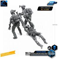 1/35 The Modern U.S. Army Rescues Fellow Soldier Status Resin Soldier Bee 16