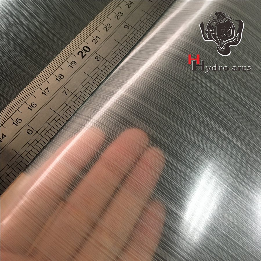 HFD033 High Quality Metal Brushed Aqua Print Film Water Transfer Printing Film Hydrographic Film,50cm Width