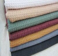 LC11873 Cotton vải Jacquard lưới màu trắng màu be xám xanh xanh màu sắc cho quần áo rob 270 gsm 10 mét bán buôn nh