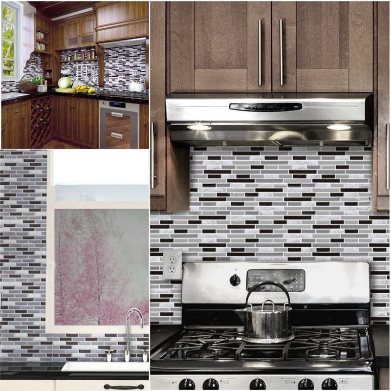 adhesive backsplash tiles kitchen 1 self adhesive wall tile stickers 3d wall 3990
