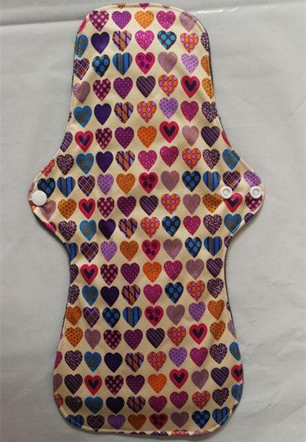 Newest Bamboo Mamas Cloth Pad Bamboo Sanitary pads For Women Girls Printed Menstrual Pads Liners Washable 30 pcs/lots