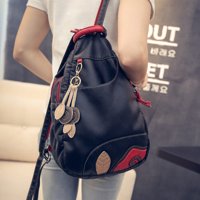 New Fashion Multifunctional Waterproof Leather Softback Women's Travel Backpack Ladies Chest Pack Sling small Shoulder Bag