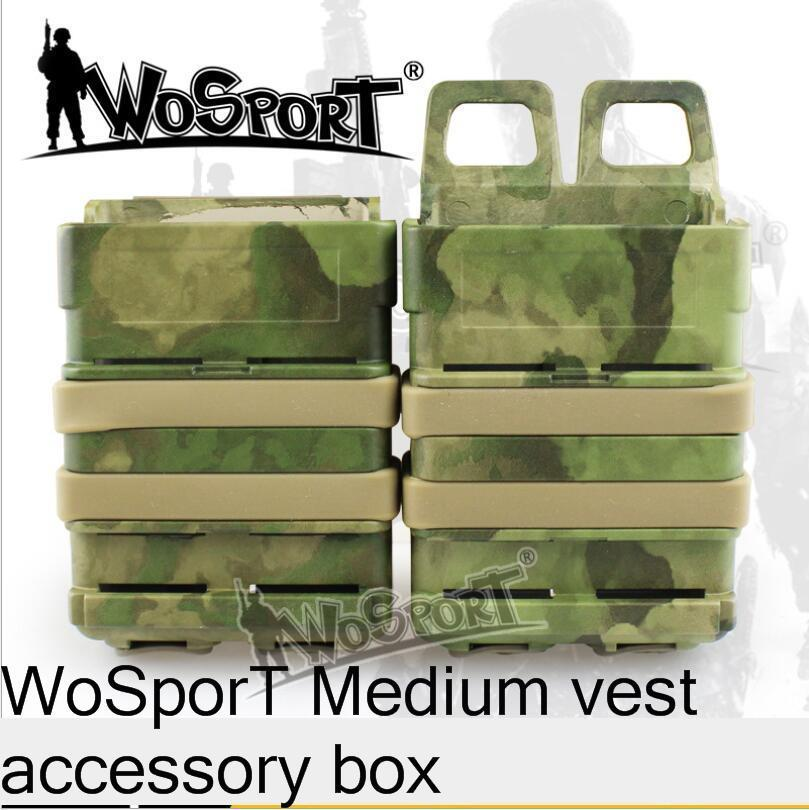 Wosport Tactical Vest Accessories Fast Mag Tools Hunting Accessoies Box Pouch Medium Outdoor Kit Tool Middle Mag Vest Box