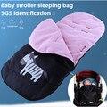 Envío libre cochecito de Bebé saco de dormir cochecito de Bebé cubierta de tela de Terciopelo suave Del Medio Ambiente de certificación SGS