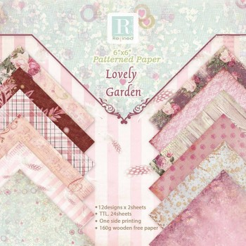 24 Sheets Lovely Garden Scrapbooking Pads