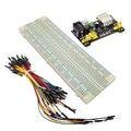 3.3 V/5 V módulo De alimentação Placa de Ensaio MB102 tábua de pão + MB-102 830 pontos kit placa Solderless Prototype Pão + 65 jumper fios flexíveis