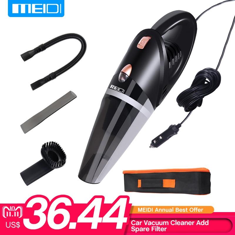 MEIDI soporte aspiradora en coche seco mojado de doble uso DC 12 V dar libre Filtro de repuesto coche portátil de mano aspiradora de 5 m cable de alimentación