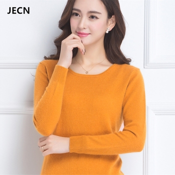 Best selling pure cashmere sweater O-neck fashion solid color long-sleeved sweater pullover S-XXXL women's cashmere sweater