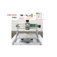DIY Laser Engraving Machine 2418 PRO ER11 GRBL Control Hobby Pcb Wood Carving Router With Drill