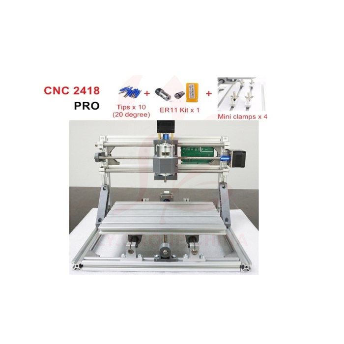 DIY laser engraving machine 2418 PRO ER11 GRBL control hobby pcb wood carving router with drill bits and collets 1pc laser drill buddy drill dust collector diy