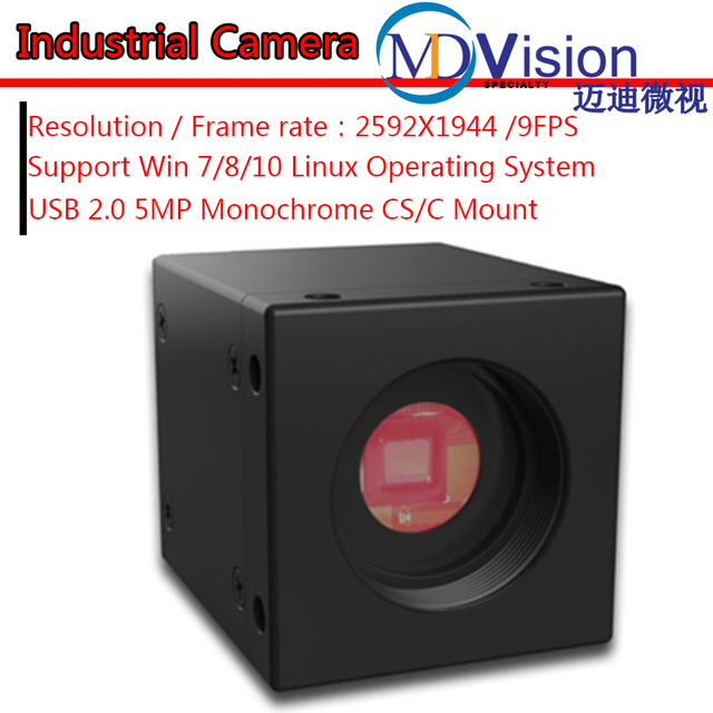 Aliexpress com : Buy USB 5 0MP Monochrome Industrial Digital Camera Machine  Vision + SDK + Demo + Measurement Software,Support Win 7/8/10 System from