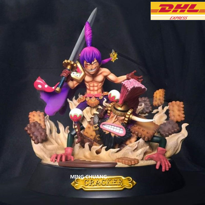 11″Statue ONE PIECE Big Mom Pirates Charlotte Cracker Bust Dessert Three Star GK Action Figure Collectible Model Toy BOX D701