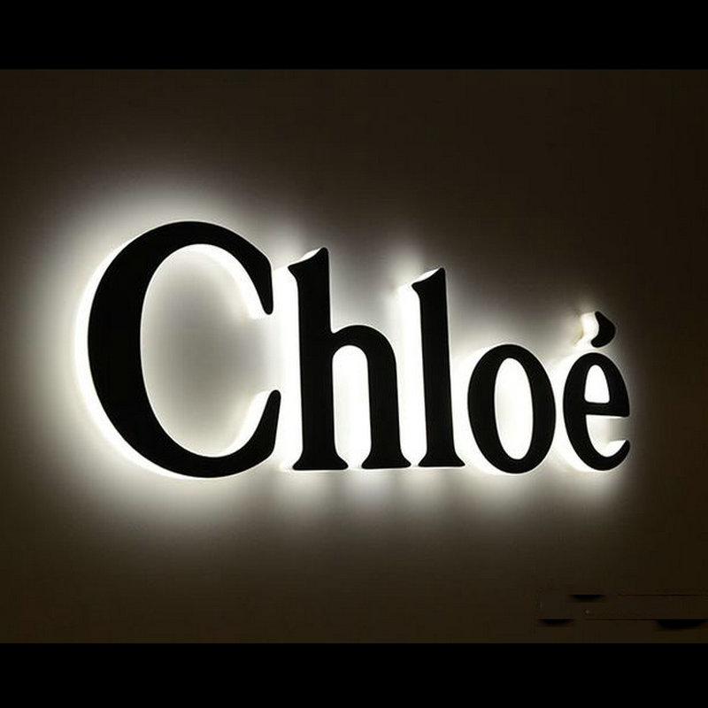 3D acrylic back lit illuminated lettering ...