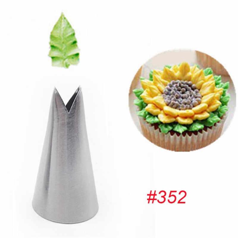 TTLIFE 1 PC ใบหัวฉีดไอซิ่งท่อเคล็ดลับ Pastry ครีมสแตนเลส Cupcake เค้กตกแต่งเครื่องมือทำอาหาร 352 #