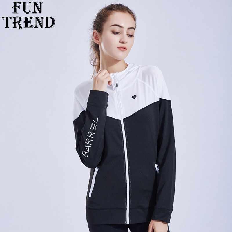 Chaqueta deportiva con capucha mujer cremallera transpirable chaqueta para  correr mujeres Fitness deporte Top Jogging entrenamiento 1dac8af4f12fd