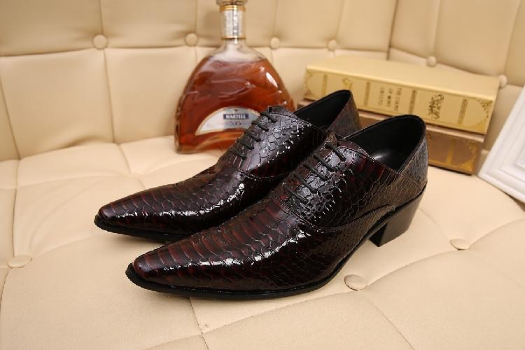 Alto Mens as Apontado Homens Oxford Dedo De Sapatos Vestido Social Python As Salto Picture Masculino Sapato Casamento Couro Pele Picture Formal w8qB7Hvx