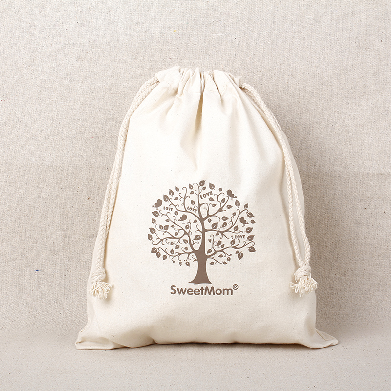 """Personalized logo Cotton Linen Drawstring Gift Bags 8x10cm(3""""x4"""") 500pcs Print Company/Store Logo or The Bride and Groom Name"""