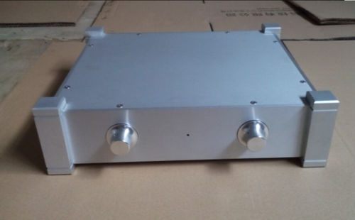 NEW with Corner Full Aluminum Enclosure AMP case/power amplifier box/ chassis RC 4308 rounded chassis full aluminum enclosure power amplifier box preamplifier chassis