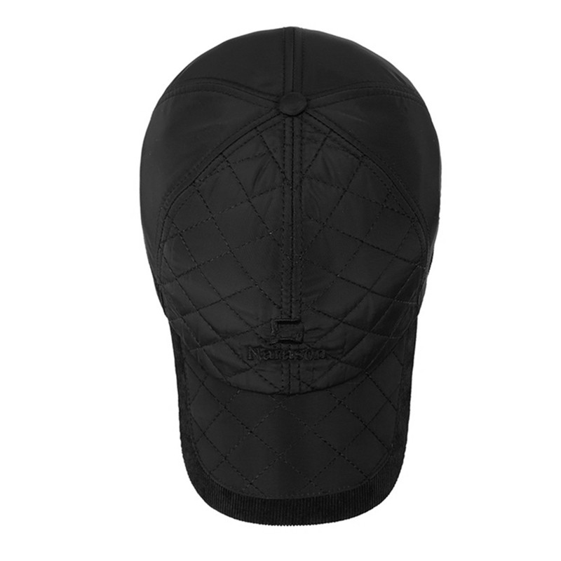 2016-Warm-Winter-Baseball-Cap-Men-Brand-Snapback-Black-Solid-Bone-Baseball-Mens-Winter-Hats-Ear (2)
