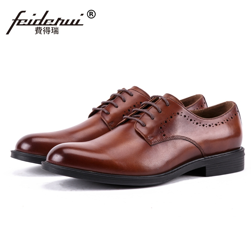 New Fashion Genuine Leather Wedding Party Mens Handmade Footwear Classic Round Toe Derby Formal Dress Welted Man Shoes SS448New Fashion Genuine Leather Wedding Party Mens Handmade Footwear Classic Round Toe Derby Formal Dress Welted Man Shoes SS448