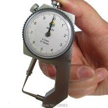 Высокое качество Циферблат Толщиномер Изогнутый наконечник 0-10 мм/0-20 мм для полой трубы или круговой трубки суппорт Калибр измерительные инструменты