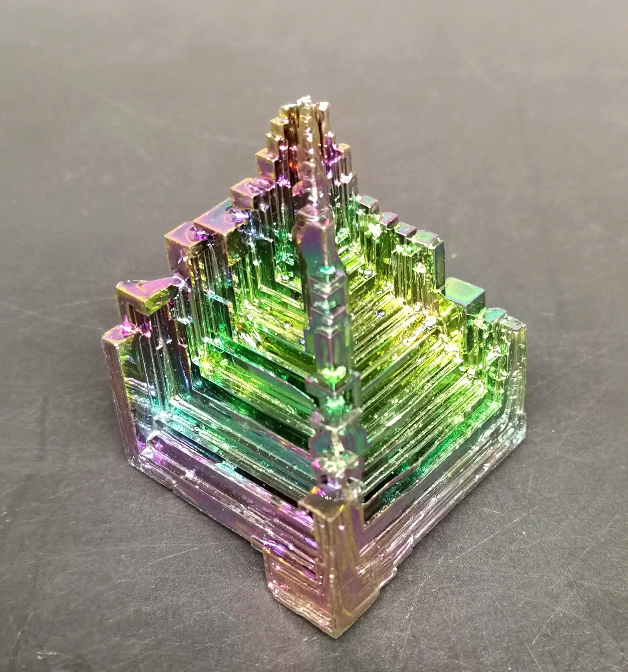 70g Beautiful Bismuth Crystals Bismuth Metal crystal Stones and crystals from china Free shipping