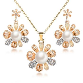 Classy Sparking Crystal Wedding Jewelry Set Jewelry Jewelry Sets Women Jewelry Metal Color: F1132
