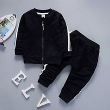 New spring and Autumn casual sports set two pieces in children long-sleeved trousers cotton