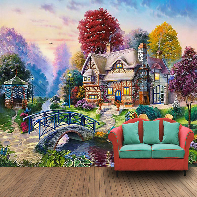 Papel pintado personalizado para paredes 3d pa s paisaje for Papel pintado personalizado