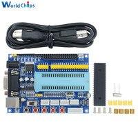 1 компл. USB пик развитию PIC16F877A 12 В DC JTAG Минимальная Системы микроконтроллер модуль MAX3232 ISP IO ICSP программа эмулятор