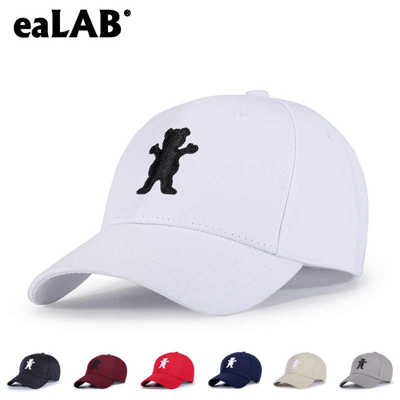 96bef062233 eaLAB Baseball Cap Men Dad Hat Women Sport Casual Hat Female Adjustable  Bear Embroidery Off White