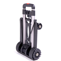 Folding Portable Trolley Mini Aluminum Luggage Suitcase Family Travel Shopping Small Trolley Case Cart Home Grocery ShoppingCart
