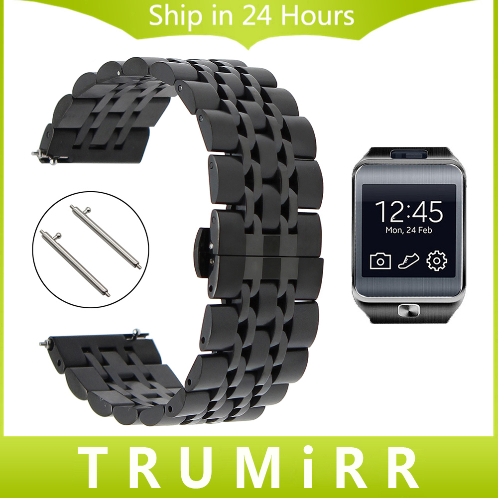 22mm Stainless Steel Watch Band Quick Release Strap for Samsung Gear 2 R380 Neo R381 Live R382 Moto 360 2 46mm Wrist Bracelet excellent quality 20mm quick release watch band strap for samsung galaxy gear s2 classic stainless steel strap bracelet