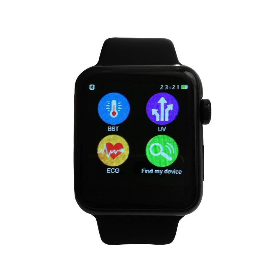 IWO Mejorada segunda Generación MTK2502C 42 MM Bluetooth Smartwatch  Podómetro Reloj Inteligente Probador de la Frecuencia Cardíaca ECG para  Android iPhone ... 376b19ea5ae