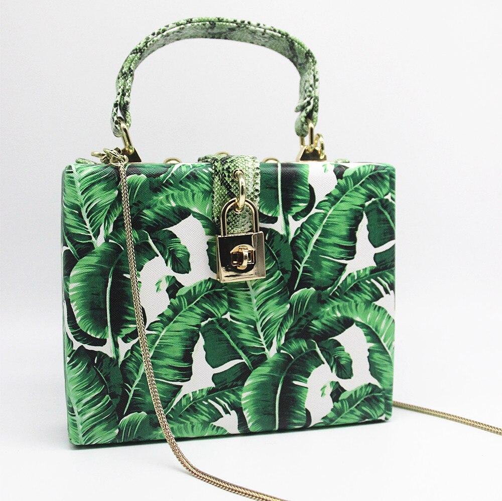 Goedhartig 2019 Vrouwen Messenger Bags Brand New Elegant Schouder Diagonaal Box Zak Vrouw Laat Print Art Clutch Banket Handtas