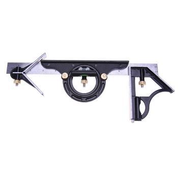 3 sztuk 300mm 0.01 regulowany inżynier kombinacja kwadratowy kątomierz wyszukiwarka kątów poziomica zacisk pomiaru Paquimetro