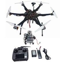 Montado Conjunto Completo Drone RTF HMF APM2.8 Marco S550 GPS de Control de Vuelo con Brújula AT10 TX/RX de $ number ejes Cardán F08618-L