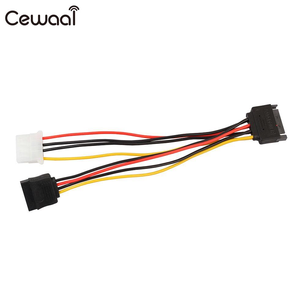 Cewaal 2017 Universal 15 Pin SATA Male to 4 Pin IDE HDD Female Power HDD Splitter Connector Cable for PC Computer 10pcs molex to sata power adaptor cable lead 4 pin ide male to 15 pin hdd serial ata converter cables