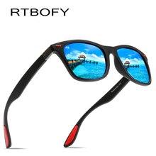 RTBOFY BRAND DESIGN Classic Polarized Sunglasses Men TR90 Square Frame Sun Glasses Male Driving Goggles UV400 Eyewear Shades
