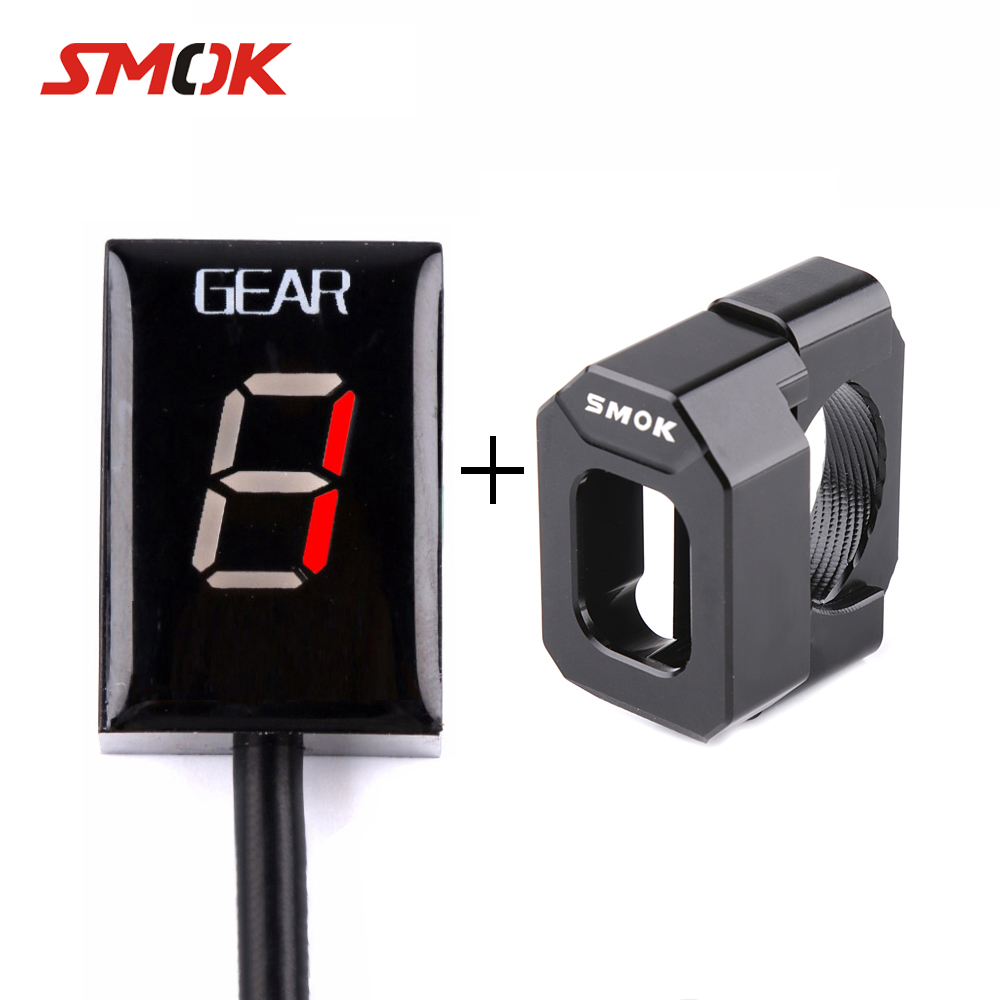 все цены на SMOK Motorcycle Ecu Direct 1-6 Speed Gear Display Indicator Holder For Kawasaki Ninja 300 400 Z300 ER6N Z1000 Z1000SX Z800 Z750 онлайн