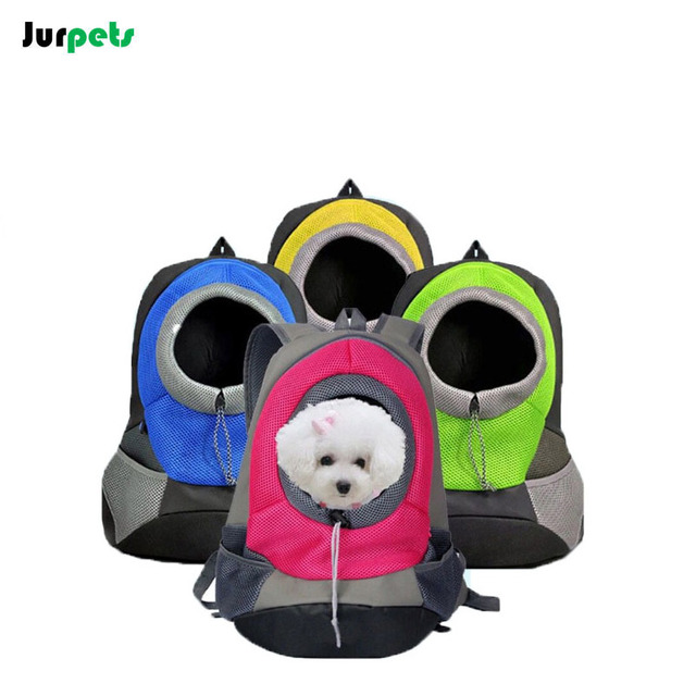 Breathable Outdoor Pet backpack Puppy Canvas Shoulder Bag Chest Bag Travel Portable Dogs Cats Bag Carriers Small Dog Backpack