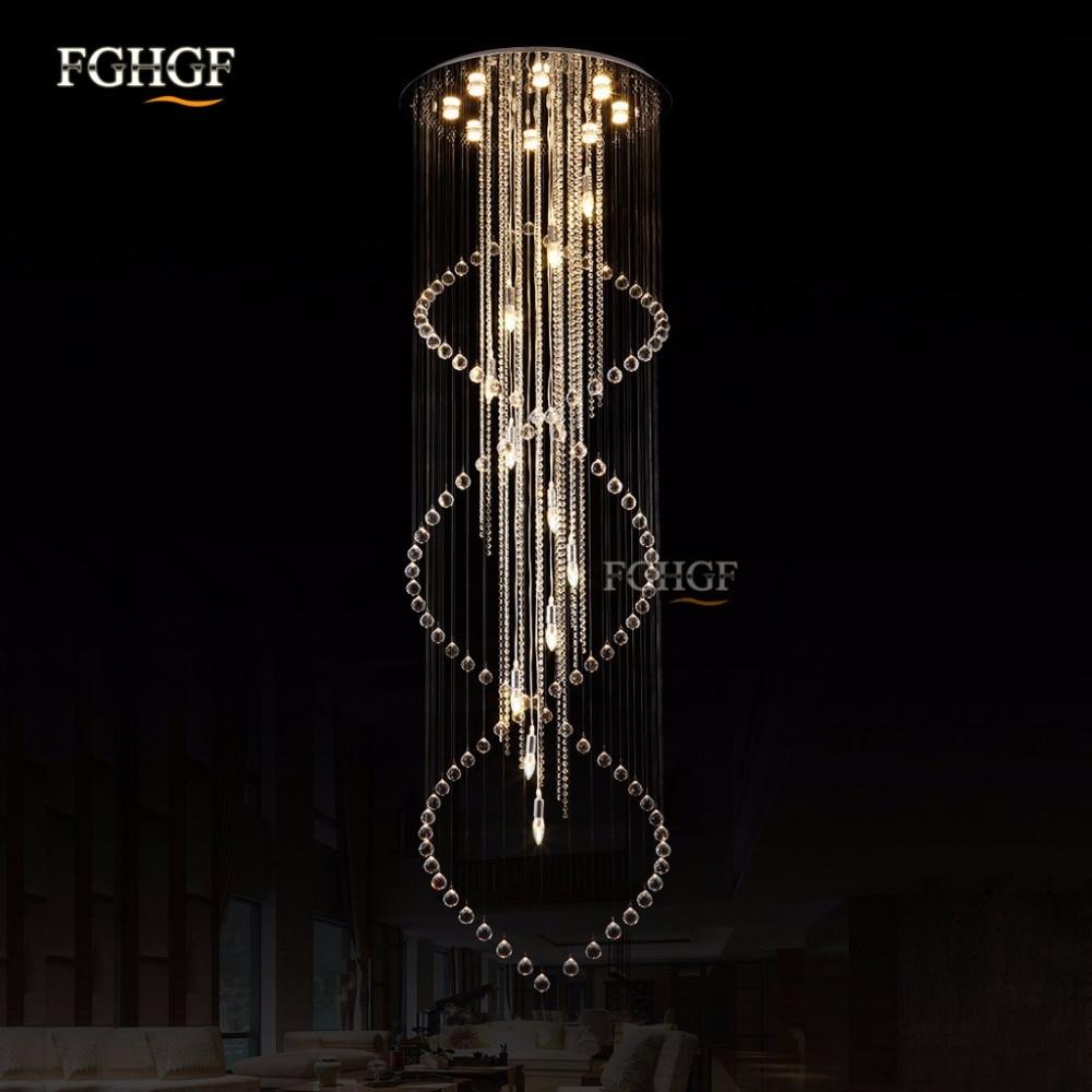 Modern, nagyméretű kristálycsillár spirál hosszú - Beltéri világítás