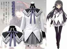 2017 New Anime Puella Magi Madoka Magica Akemi Homura Cosplay Costume Halloween Costume Adult Costumes for Women Custom Any Size недорого