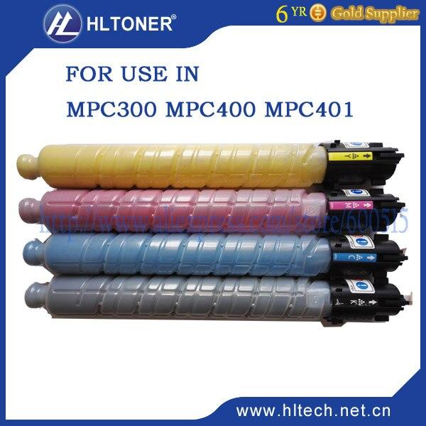 MPC400 MPC401 copier toner cartridge compatible Ricoh Aficio MP C300 MP C300SR MP C400 MP C401MPC400SR BK/M/C/Y 4PCS/LOT toner powder compatible for ricoh aficio mpc2030 2050 2530 2550 color toner