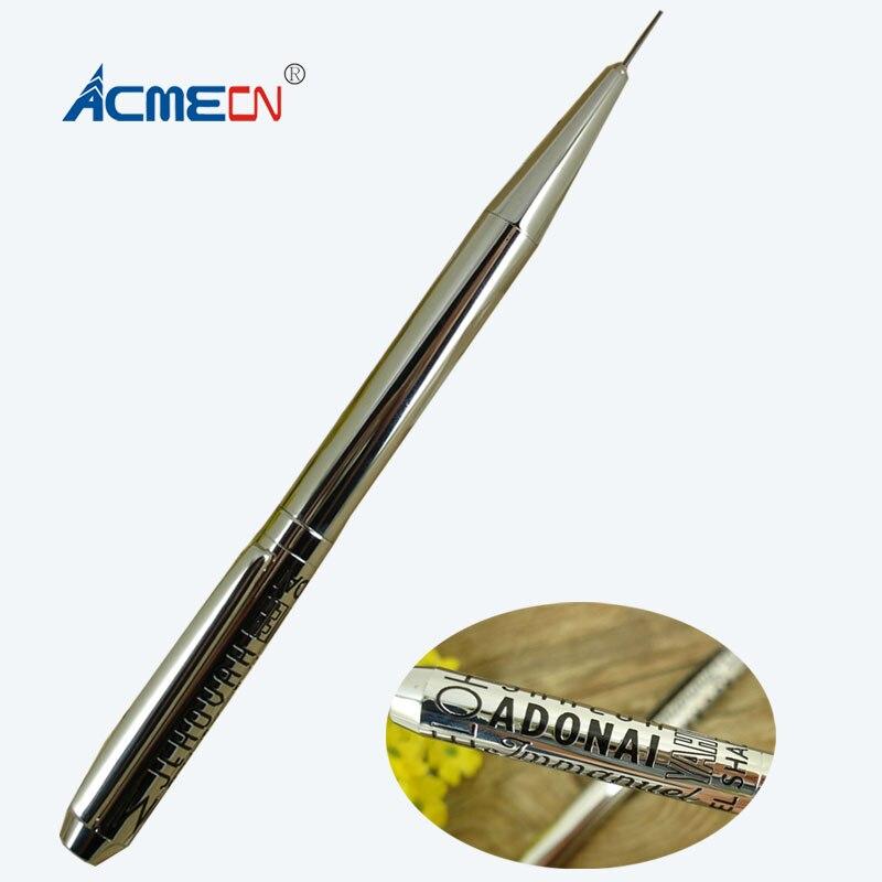 Lápices automáticos de plata tallada con diseño único, grabado de latón, giro de plata, lápices mecánicos de 0,9mm de la marca de borrador