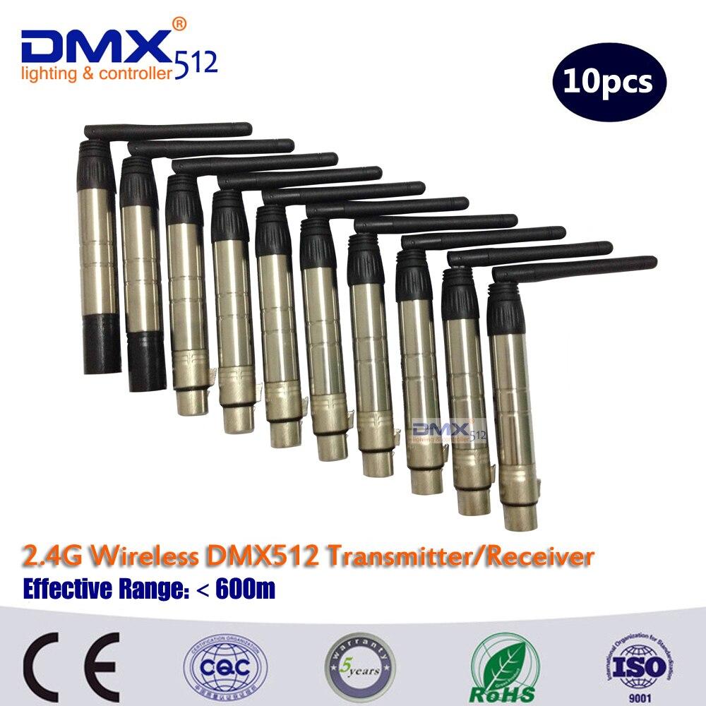 dhl送料無料のワイヤレスdmxコントローラー2個8個送信機と受信機 -