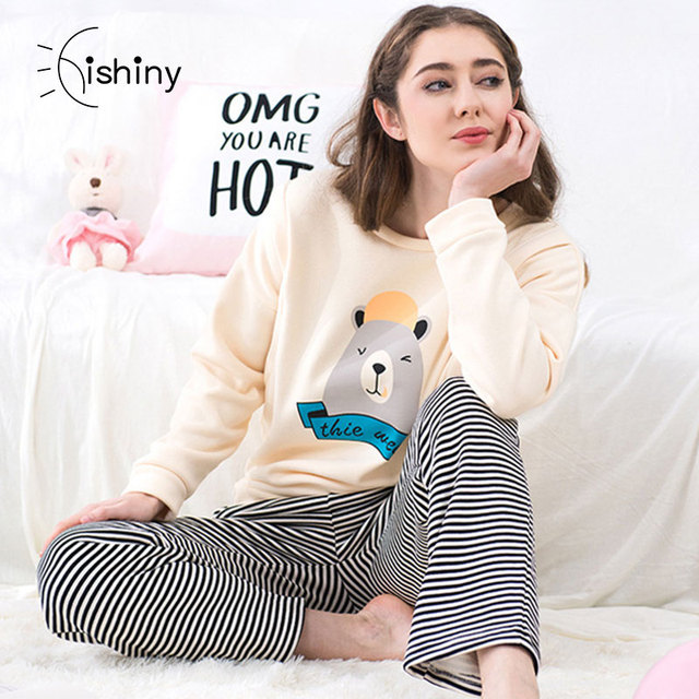 ec3dcebc7259b 2018 Fashion Thickening Maternity Sets Lactation Warm Clothes long sleeve  nursing pajamas breast feeding nightwear pyjama